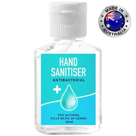 30ml - 75% Antibacterial Australian Made Hand Sanitiser Gel