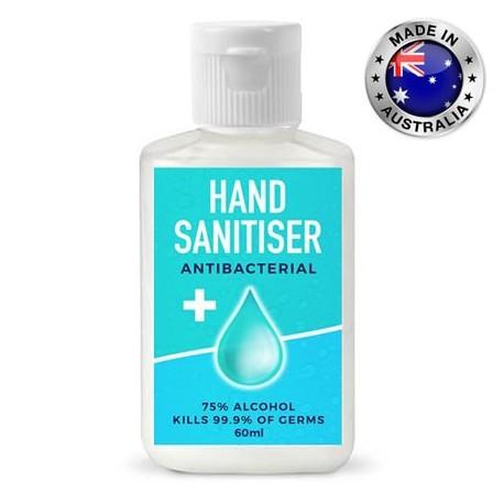 60ml - 75% Australian Made Antibacterial Hand Sanitiser Gel