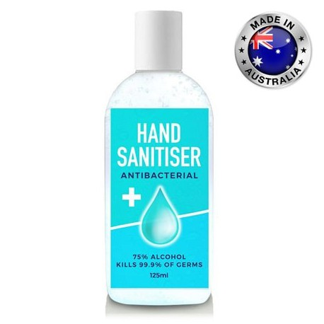 125ml - 75% Australian Made Antibacterial Hand Sanitiser Gel