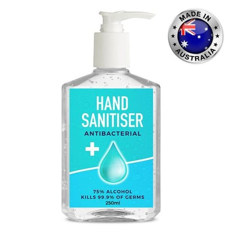 250ml -75% Australian Made Antibacterial Hand Sanitiser Gel